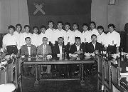 昭和34年8月、戦後初の海外遠征で台湾へ。全勝を飾る。台北にて