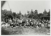昭和13年6月~9月、第1回北米合衆国遠征。国技としての柔道を紹介し、柔道を通じて義塾と米国諸大学と交歓し、両国親善の一助となさんとの目的の下に北米合衆国へ選手を派遣する