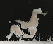 昭和24年又は25年、全日本三地区対抗戦(関東・関西・九州)で九州代表の神屋六段を体落しで投げ勝利した水谷英男先輩。翌朝報知新聞一面を飾った。