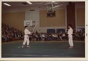 昭和53年、アメリカ遠征、ケントリッジ高校でのデモンストレーション「極めの型」