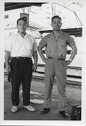 昭和39年、日吉高、志木高の長野遠征を引率する清水正一師範と朝飛速夫師範