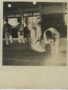 昭和26年7月、日吉道場での稽古風景
