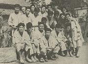 昭和24年、信州松本の滴水館道場(清水正一館長)にて、終戦後初の夏期遠征合宿