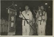 昭和29年11月28日、旧講道館、第6回早慶柔道対抗戦初優勝。