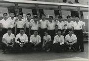 昭和34年8月、戦後初の海外遠征で台湾へ。全勝を飾る。台中にて