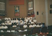 昭和61年11月18日、台湾遠征、台中の議事堂にて記念撮影