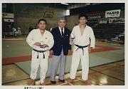 昭和62年、オックスフォード大学の招聘によりイギリス学生柔道30周年記念合宿に参加
